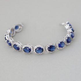 bracelet mariage cristal bleu