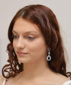 boucles d'oreilles bleu cristal Zircon