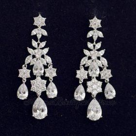 boucles d'oreille mariage longues chandelier