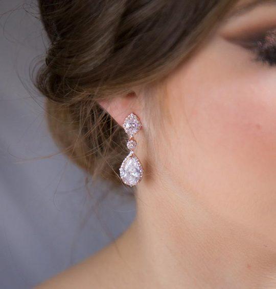Boucles d'oreilles mariée cristal Swarovski