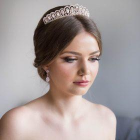 Boucles d'oreilles mariée cristal Swarovski Anissa