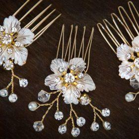 bijoux cheveux mariage fleurs
