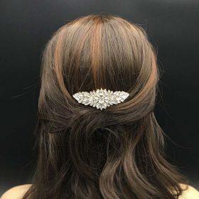 Peigne coiffure mariée doré