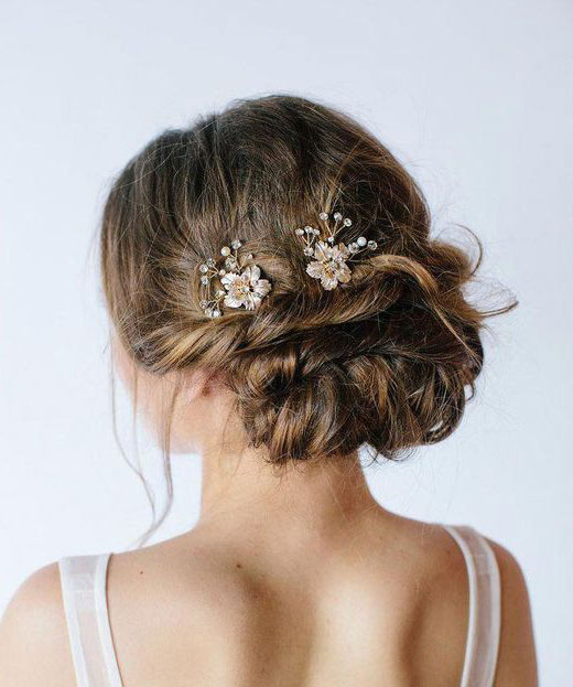 "pics coiffure mariage fleurs strass ""muriel"""