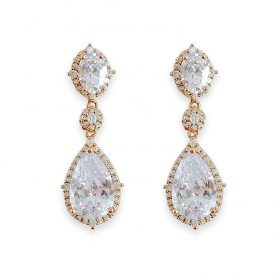 boucles d'oreilles cristal swarovski elegantes
