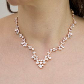 Collier mariage rose gold