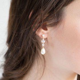 Boucles d'oreilles pour mariée