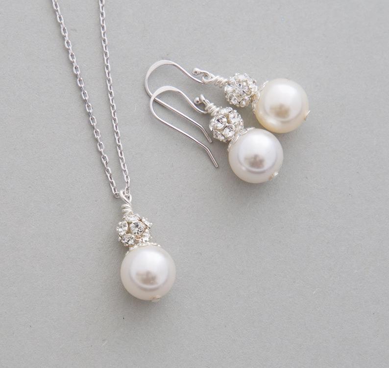 come serch online in vendita in vendita online Parure bijoux mariage perle Swarovski strass