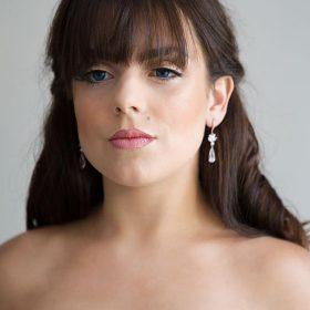 """Boucles d'oreilles pour mariée pendantes cristal """"Stephanie"""""""