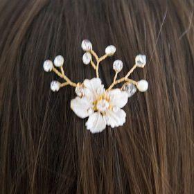 bijou cheveux mariage fleur