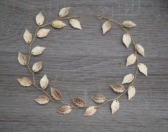 vigne bijoux tête feuilles
