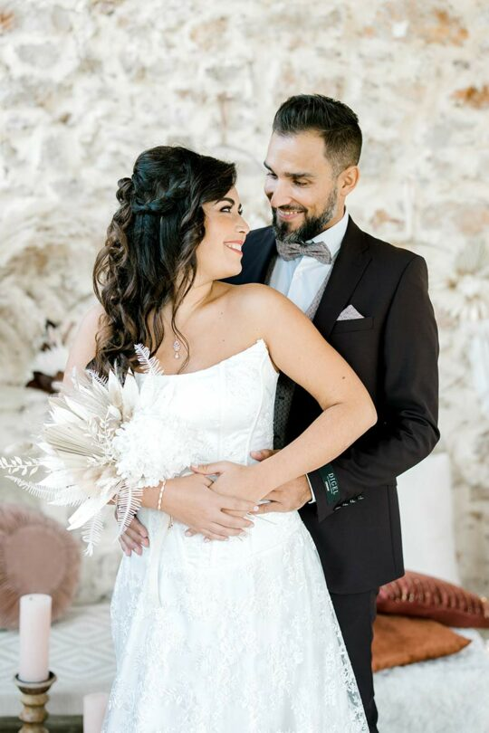 Bracelet pour mariée argenté fin et élégant « Colette »