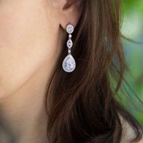 boucles d'oreilles de mariée