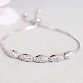 Bracelet pour mariée argenté fin et élégant