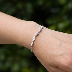 Bracelet pour mariée argenté fin et élégant 4