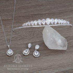 Diadème de mariage et parure de bijoux