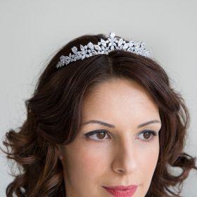 Diadème pour mariée zircon