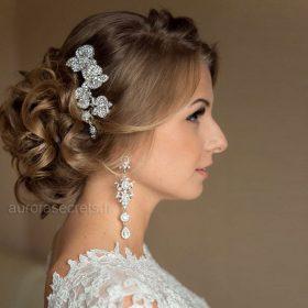 Bijou de cheveux pour mariage fleurs orchidées Renata 2