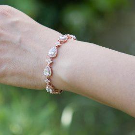 Bracelet pour mariée chic et élégant cristal Zircon Bella