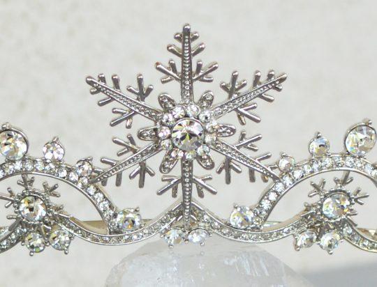 Diadème de mariage en hiver flocons de neiges 3