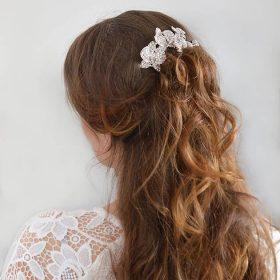 Bijoux de cheveux pour mariage fleurs orchidées Renata 2