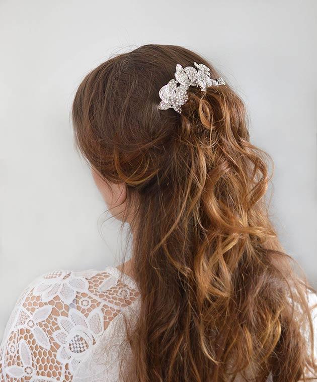 nouveau produit 54018 58dc2 Bijoux de cheveux pour mariage fleurs orchidées