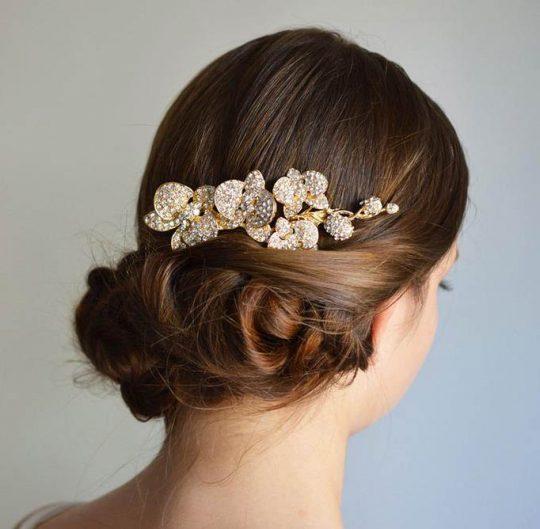 Bijoux de cheveux pour mariage fleurs orchidées Renata 3