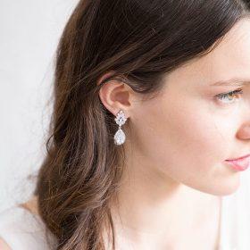 boucles d'oreilles mariage Swarovski cristal 2