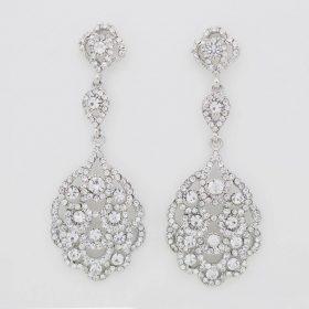 Boucles d'oreilles mariage chandelier vintage