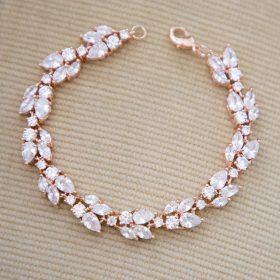 bracelet mariage doré rose