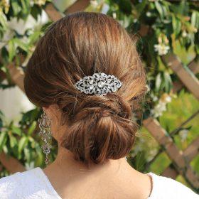Broche à cheveux pour mariage cristal strass