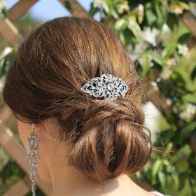 Broche à cheveux pour mariage cristal strass 2