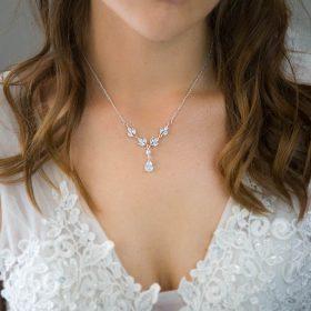 Collier de mariée perle nacrée Swarovski 2