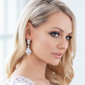 Boucles d'oreilles cristal pour mariée rétro chic Mélina