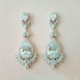 Boucles d'oreilles cristal pour mariée 2