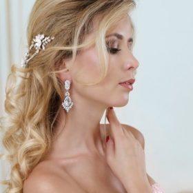 boucles d'oreilles cristal pour mariée 4
