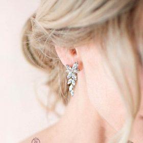 Boucles d'oreilles mariée chic