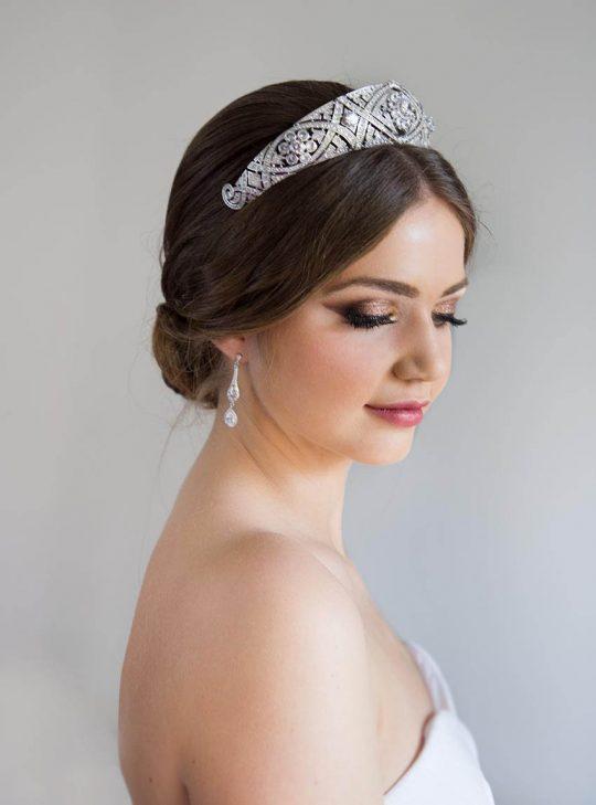 Diadème mariage Meghan Markle réplique diamantée 1