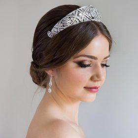Diadème mariage Meghan Markle réplique diamantée 2