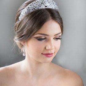 Diadème mariage Meghan Markle réplique diamantée 3