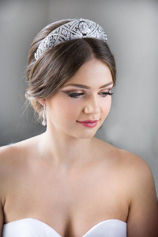 Diadème mariage Meghan Markle réplique diamantée 4