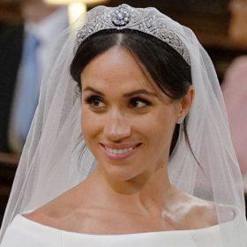 Diadème mariage Meghan Markle réplique diamantée 7