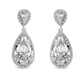 Boucles d'oreilles cristal mariage 2