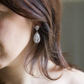 Boucles d'oreilles cristal mariage
