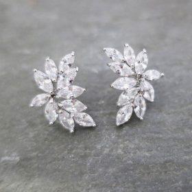 Boucles d'oreilles mariage Swarovski cristal