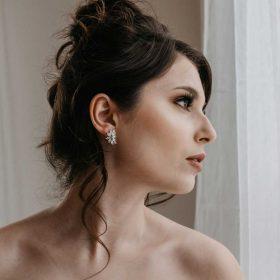 Boucles d'oreilles mariage Swarovski cristal 9