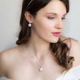 Parure boucles et collier pour mariage