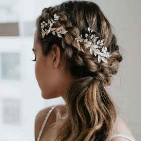 Bijoux de cheveux mariage-peigne bohème feuilles 2