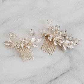 Bijoux de cheveux mariage-peigne bohème feuilles 5