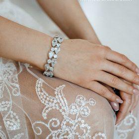 Bracelet mariée chic diamant zircon